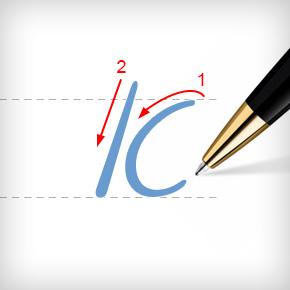 Обучение письменным буквам на иврите, техника письма