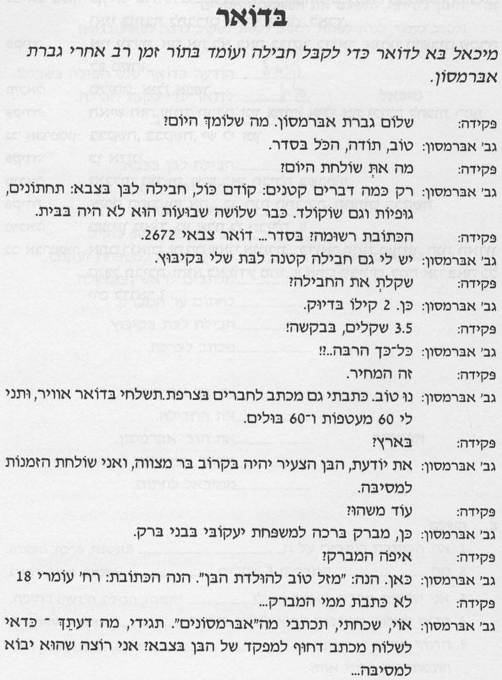 Разговорные темы иврита 15