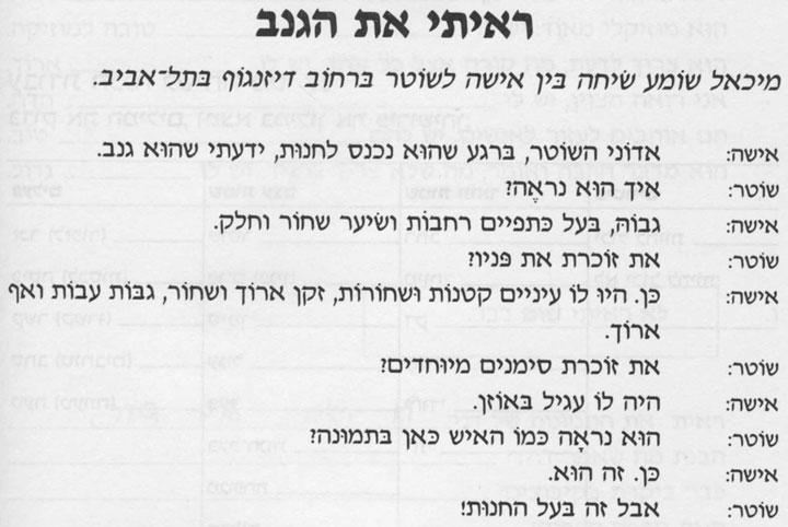 Разговорные темы иврита 17