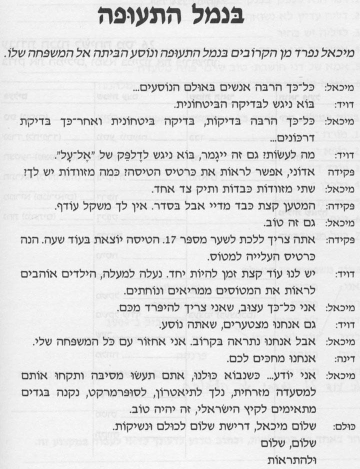 Разговорные темы иврита 23