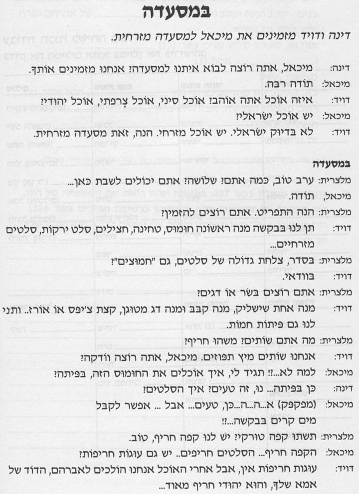 Разговорные темы иврита 4