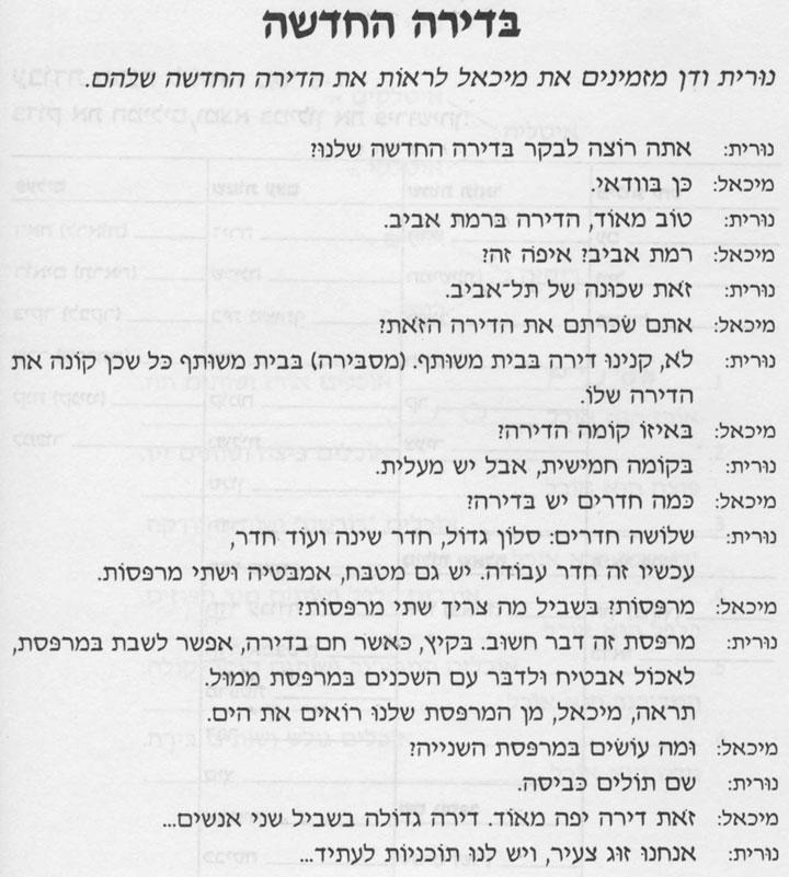 Разговорные темы иврита 5